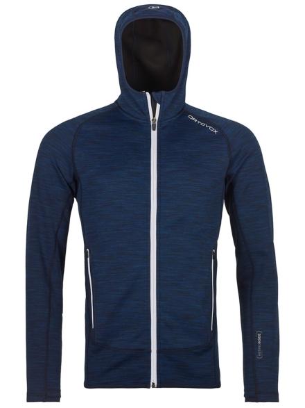 Ortovox Space Dyed Hooded Fleece Ski jas blauw