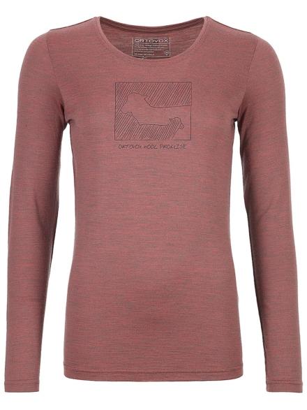 Ortovox 185 Merino Contrast Tech t-shirt met lange mouwen oranje