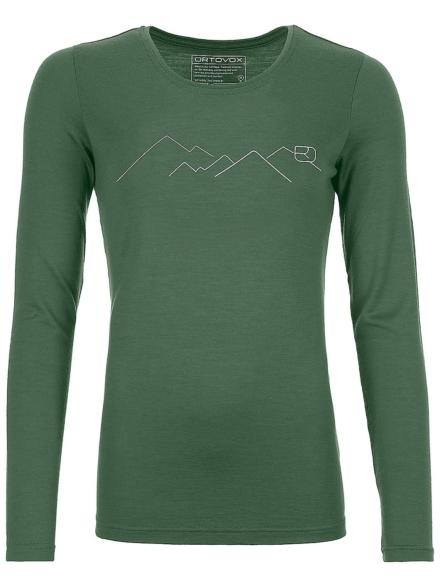 Ortovox 185 Merino Mountain Tech t-shirt met lange mouwen groen