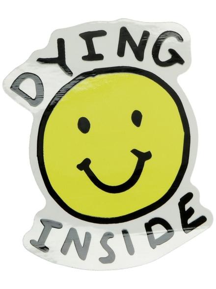 Jac Vanek Dying Inside Sticker patroon
