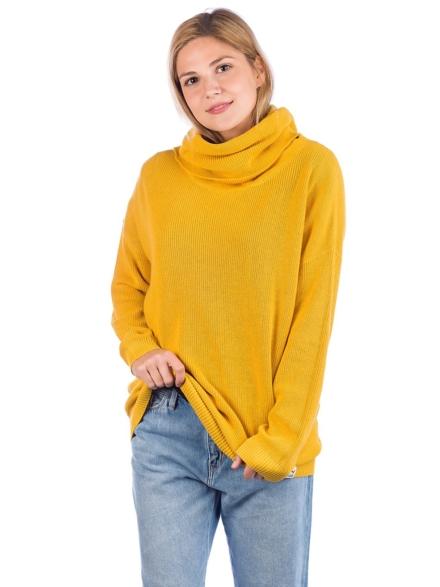 Iriedaily Mock Turtle vest Pullover geel