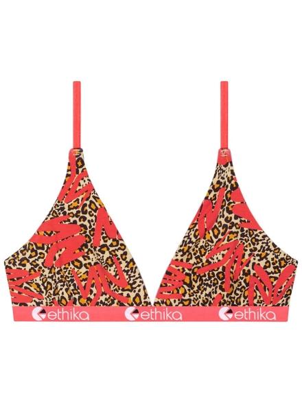 Ethika Ym Leopard T-Bra ondergoed rood