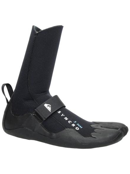 Quiksilver 3mm Syncro Split Toe Booties zwart