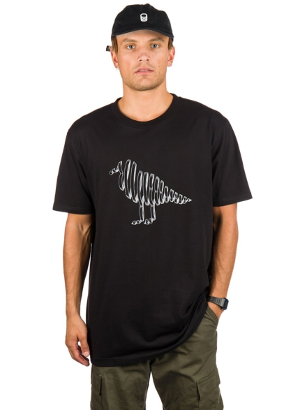 Cleptomanicx Vision Gull T-Shirt zwart