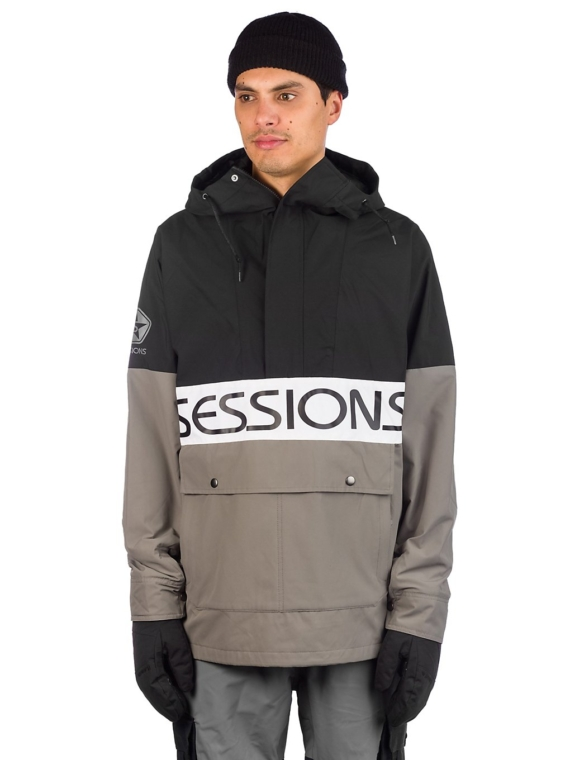 Sessions Chaos Pullover Ski jas zwart