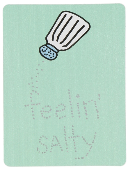 Jac Vanek Feelin Salty Sticker patroon