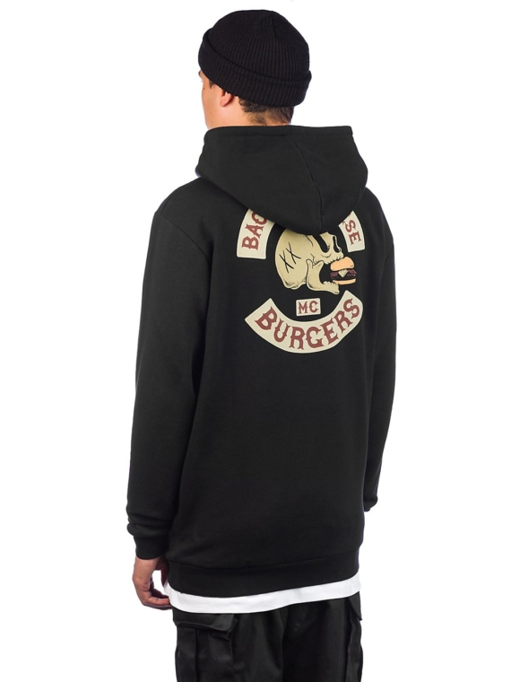 The Dudes Bacon Cheese Burgers Hoodie zwart