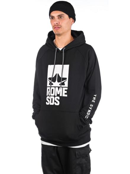 Rome Logo Hoodie zwart