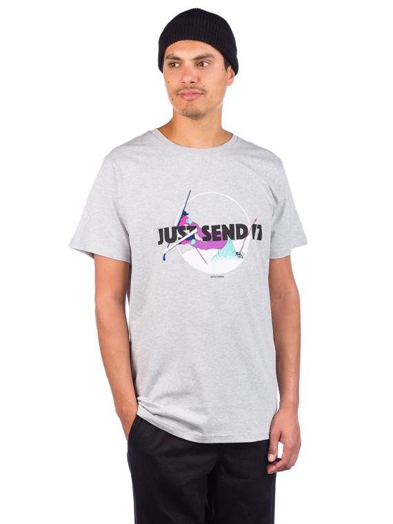 Dedicated Stockholm Just Send It T-Shirt grijs