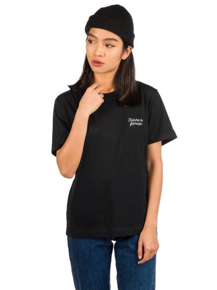 Dedicated Mysen Future Is Female T-Shirt zwart