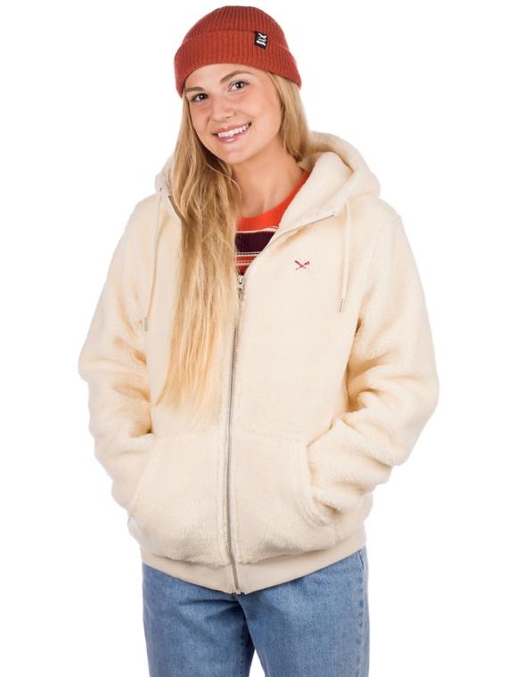 Iriedaily Arktis Fleece Zip Hoodie wit