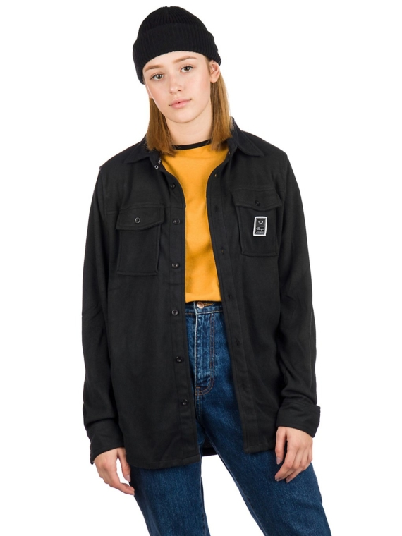 Rojo Main Street Microflee Ce Shirt met lange mouwen zwart