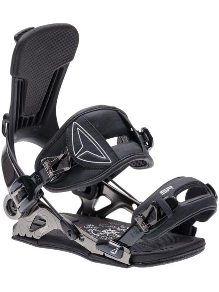 SP Slab Snowboard Bindings 2021 zwart