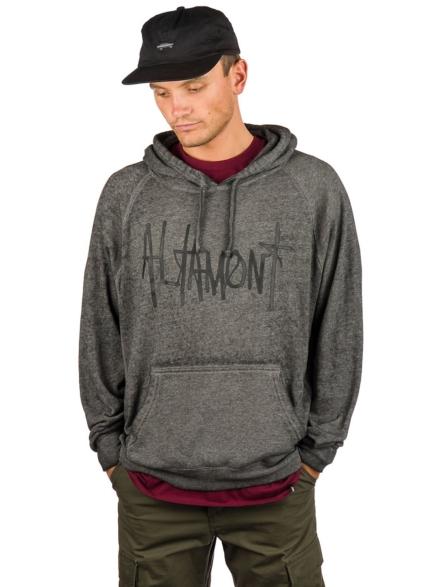 Altamont Acid Wash Hoodie zwart