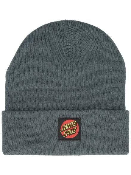 Santa Cruz Classic Label Dot Beanie grijs