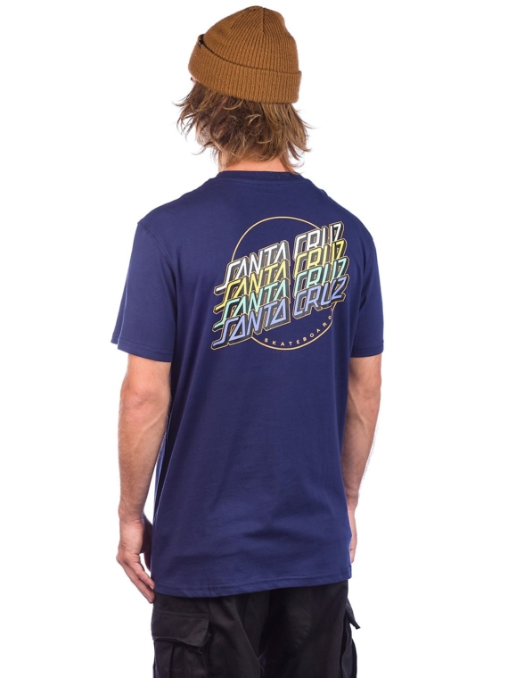 Santa Cruz Multi Strip T-Shirt blauw