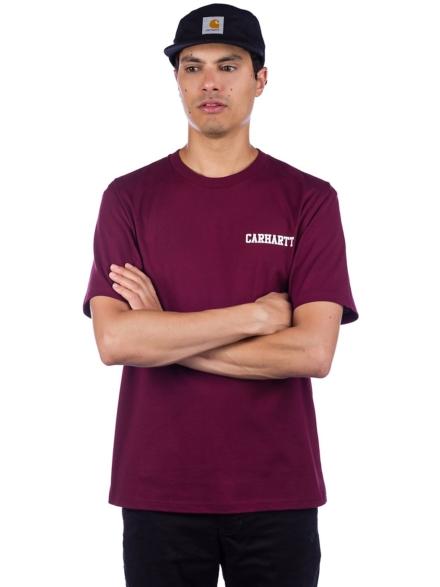 Carhartt WIP College Script T-Shirt roze