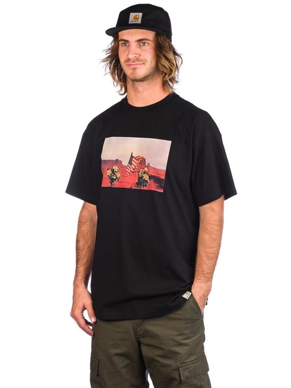 Carhartt WIP Matt Martin Flags T-Shirt zwart