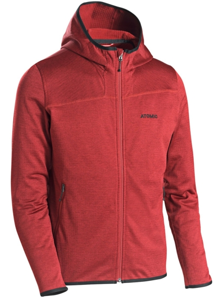 Atomic Hooded Micro Fleece Ski jas rood
