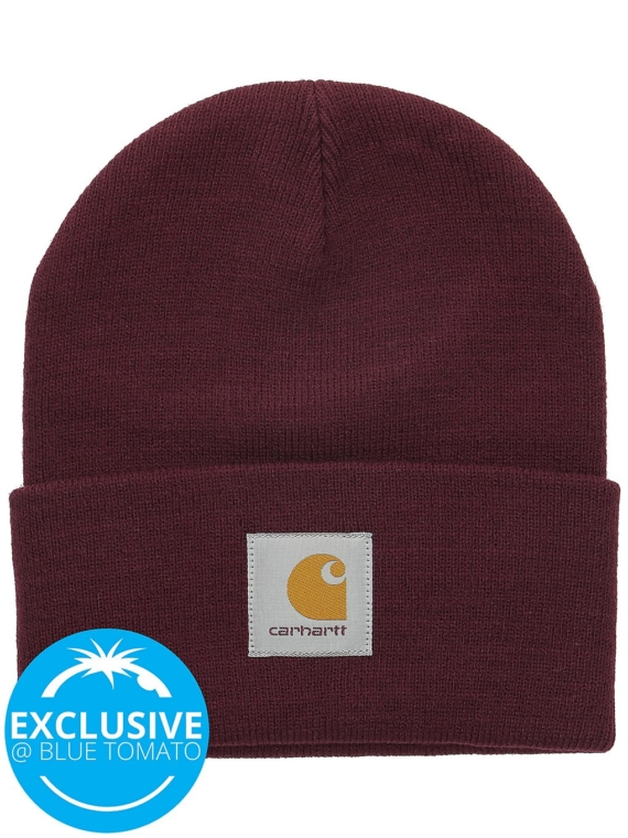 Carhartt WIP Short Watch Beanie rood