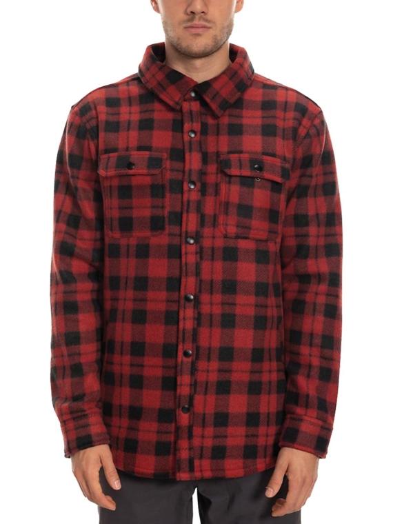 686 Sierra Fleece Flannel Shirt rood