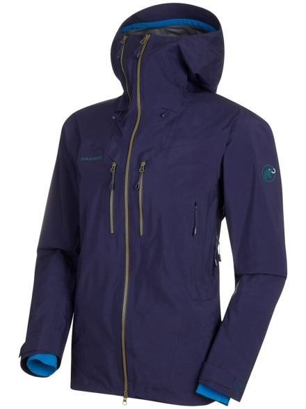 Mammut Alvier Hs Hooded Ski jas blauw