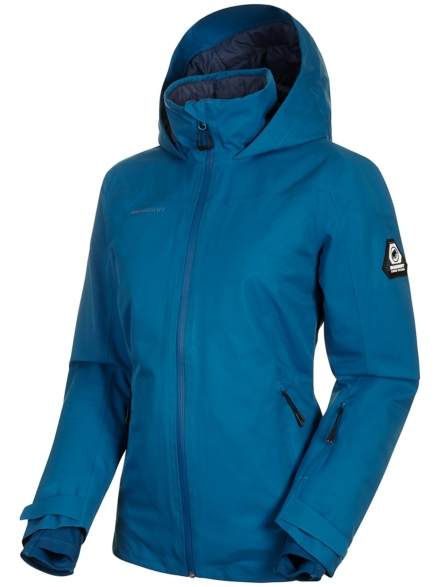 Mammut Scalottas Hs Thermo Hooded Ski jas blauw