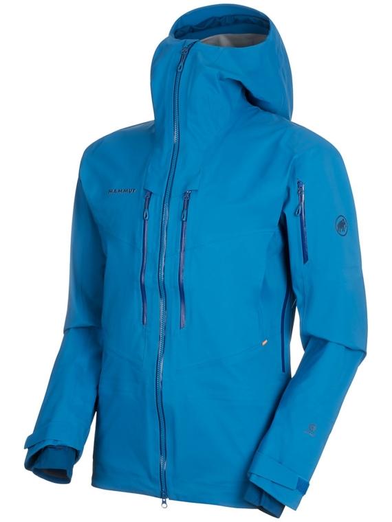 Mammut Haldigrat HS Hooded Ski jas blauw