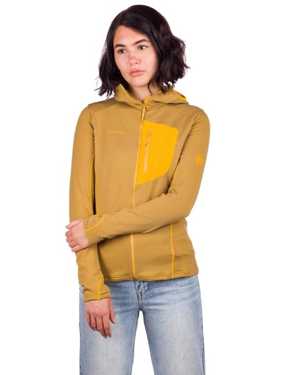 Mammut Aconcagua Light Ml Hooded Fleece Ski jas geel