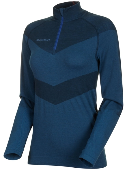 Mammut Vadret Half Zip Tech t-shirt met lange mouwen blauw