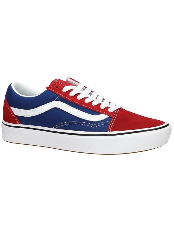Vans ComfyCush Old Skool Two-Tone Sneakers rood