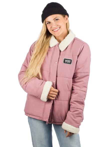 Vans Fawner Puffer Ski jas roze