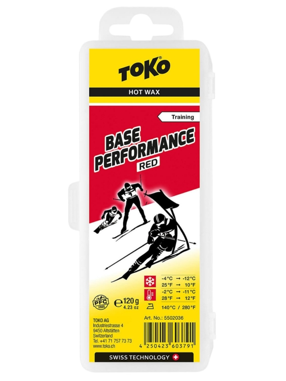 Toko Base Performance 120g Red -4°C / -12°Wax patroon