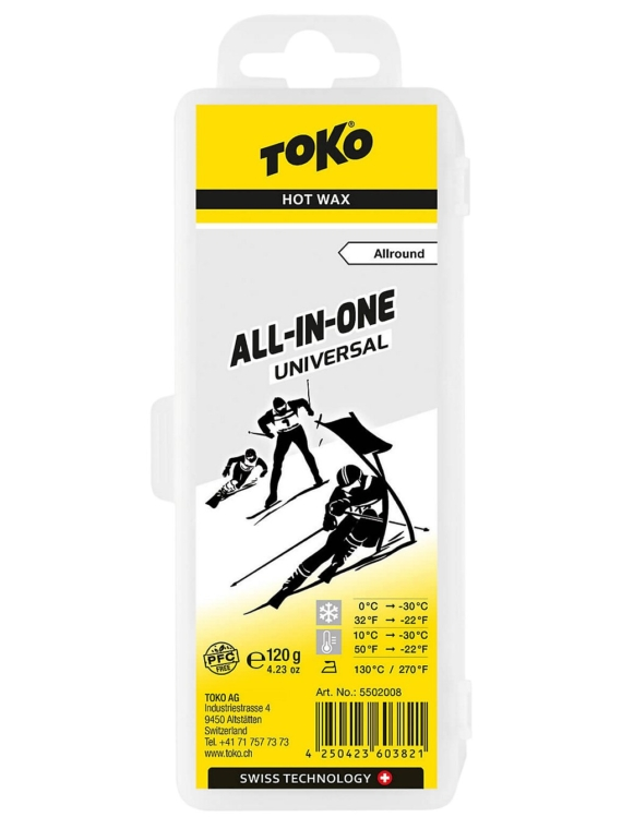 Toko All-in-one uni 0°C /-30°C 120g Wax patroon