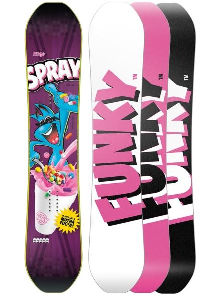 Funky Snowboards Spray 150 2020 patroon