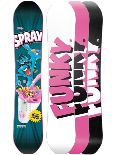 Funky Snowboards Spray 152 2020 patroon