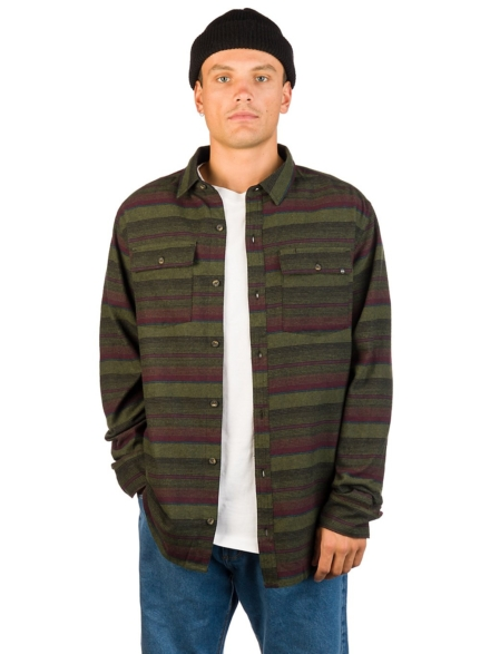 Dravus Malachi Woven Stripe Shirt groen
