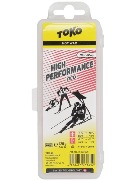 Toko High Performance Red -2°C / -11°C Wax rood