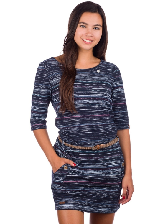 ragwear Tanya Print jurkje blauw