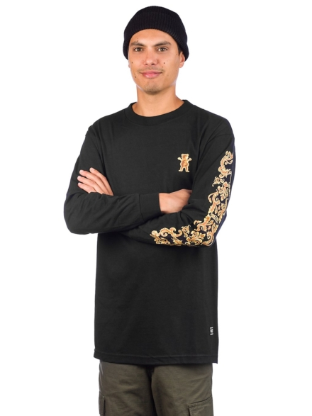 Grizzly Gold Leaf Long Sleeve T-Shirt zwart