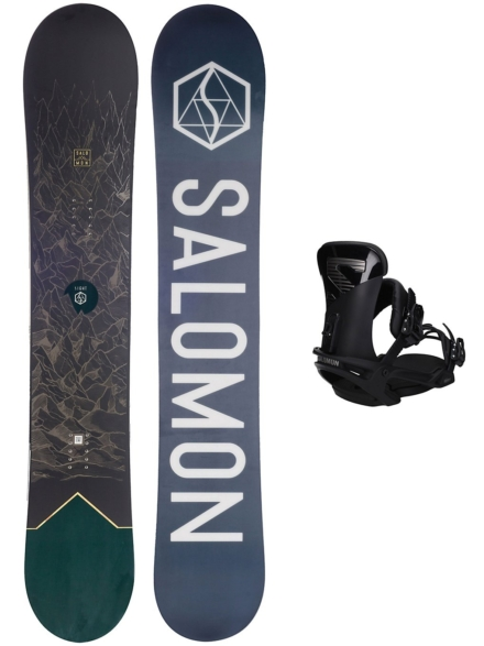 Salomon Sight X 162W + Trigger X L 2020 patroon