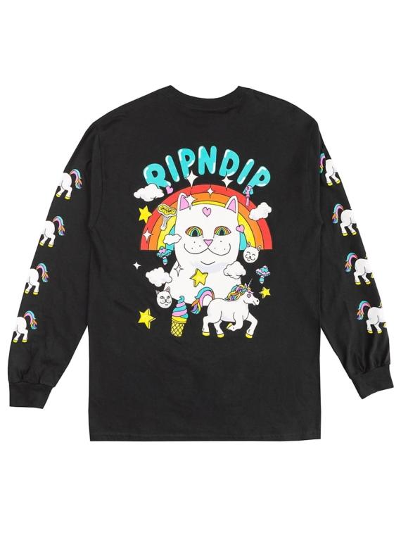 RIPNDIP Nermland Long Sleeve T-Shirt zwart