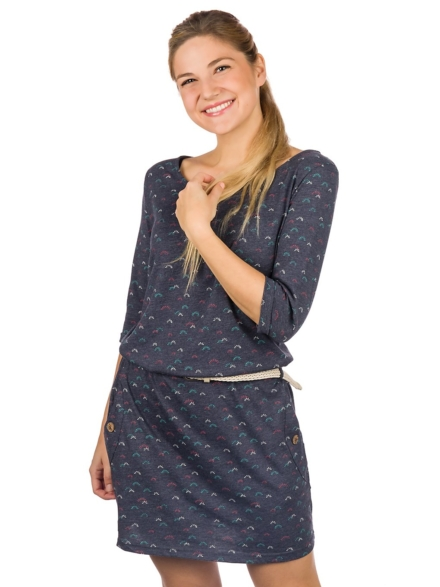 ragwear Tanya Organic jurkje blauw