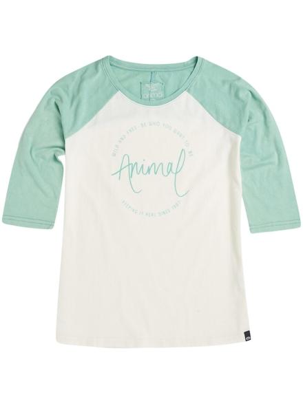 Animal Washout T-Shirt met lange mouwen groen