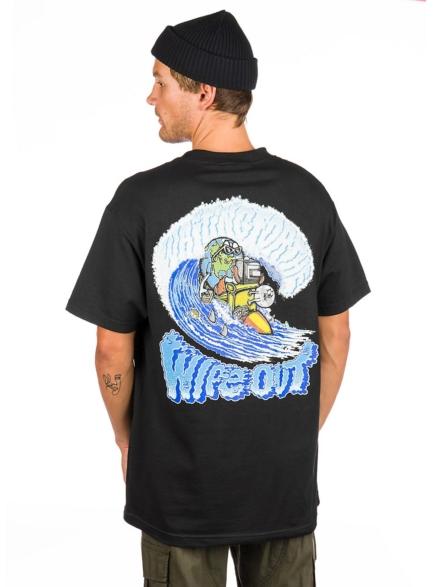 t-shirtnage Wipeout T-Shirt zwart