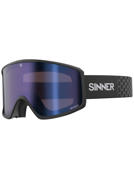 Sinner Sin Valley Matte zwart (+Bonus Lens) zwart