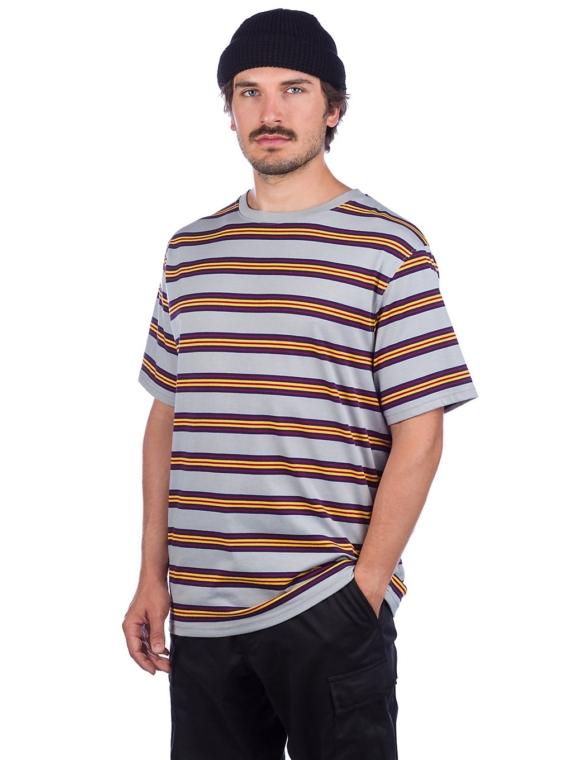 Zine Bonus Stripe T-Shirt grijs