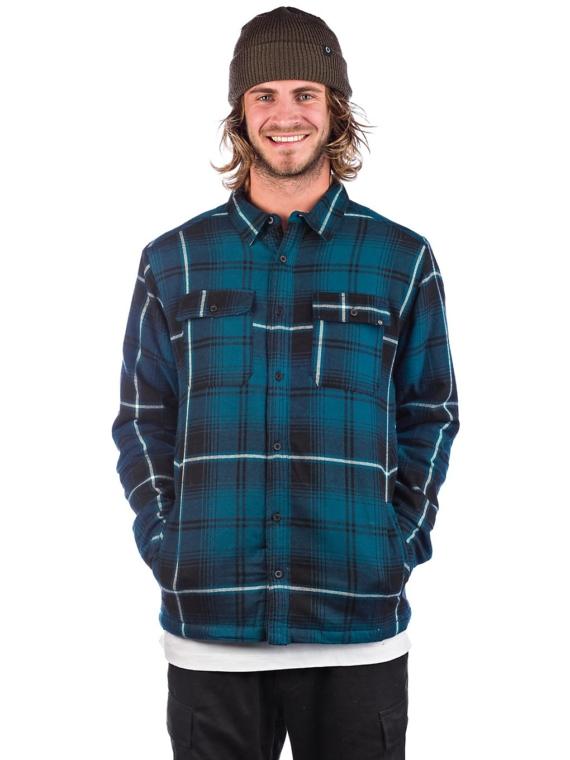 Dravus Sherpa Flannel Shirt blauw