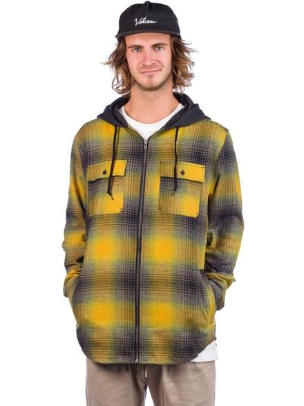 Empyre Chadder Flannel Shirt geel