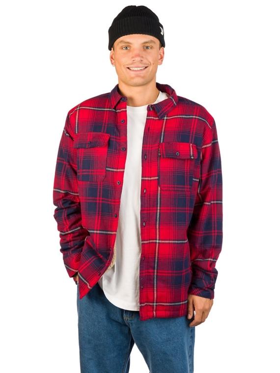 Dravus Sherpa Flannel Shirt rood